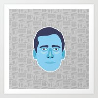 michael scott Art Prints featuring Michael Scott - The Office by Kuki
