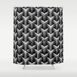 GS Geometric Abstrac 04A4A S6 Shower Curtain