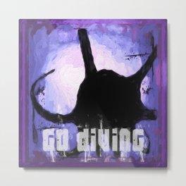Go Diving! - Octopus Metal Print