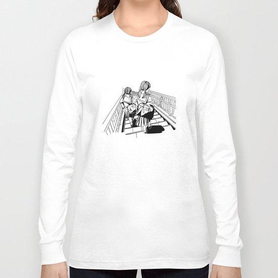 Japanese School Girls  Long Sleeve T-shirt