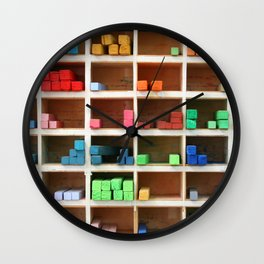 Colorful Chalks Wall Clock