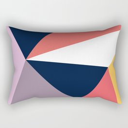 Modern Poetic Geometry Rectangular Pillow