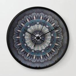 Gray metal Mandala Wall Clock