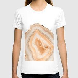 Soft Orange Agate Dream #1 #gem #decor #art #society6 T-shirt
