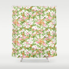 vintage 12 Shower Curtain