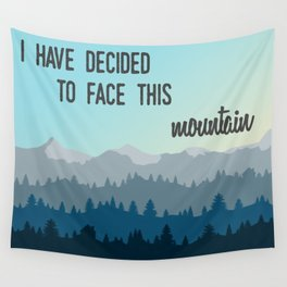 Face This Mountain (Jon Foreman Lyrics Illustration) Wall Tapestry