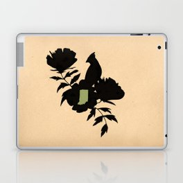 Indiana - State Papercut Print Laptop & iPad Skin