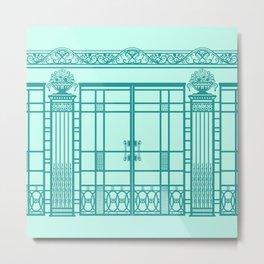 ART DECO, ART NOUVEAU IRONWORK: Blue Green Dream Metal Print