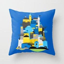 Magic Town Throw Pillow