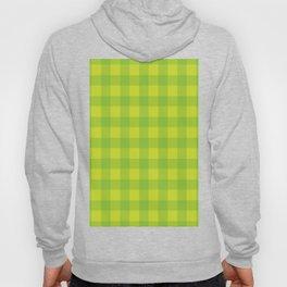 GREEN YELLOW PLAID Abstract Art Hoody
