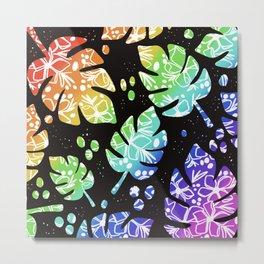 Rainbow Palm Metal Print