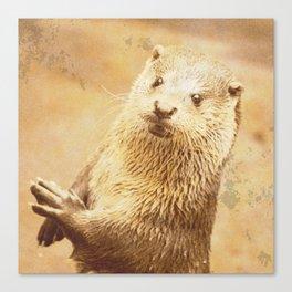 Vintage Animals - Otter Canvas Print