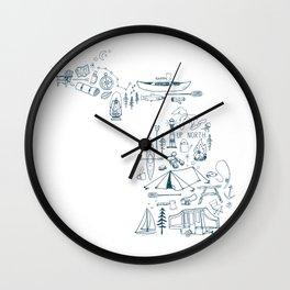 Michigan Up North Collage Wall Clock