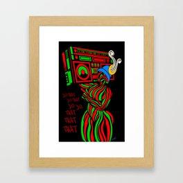 Tribe RADIO Solid Framed Art Print