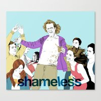 shameless Canvas Prints featuring shameless by illustratemyphoto