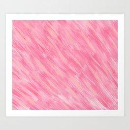 Pink Blush-Flamingo Pink Rose Blush Pink Art Art Print