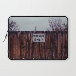 Entrance Only - Sheridan, WY Laptop Sleeve