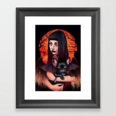 The Vamp and her BatPig Framed Art Print
