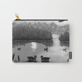 The Pond Black and White Carry-All Pouch