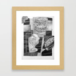 Food Collage (Drawing) Framed Art Print