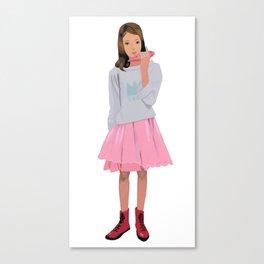 A girl playing ocarina Canvas Print