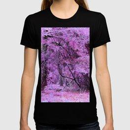 Fantasy Tree Landscape: Orchid Pink Purple T-shirt