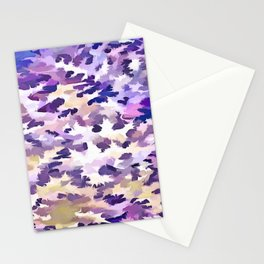 Foliage Abstract Camouflage In Pale Purple and Violet Pastels Stationery Cards