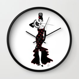 Audrey Flamenca Cover Wall Clock