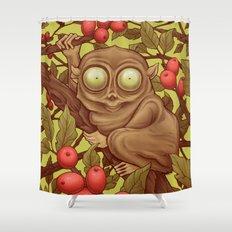 The Caffeinated Tarsier Shower Curtain