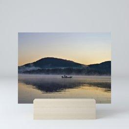 Fishing in the Morning Mist Mini Art Print