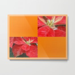 Mottled Red Poinsettia 1 Ephemeral Blank Q8F0 Metal Print