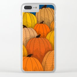 Pumpkins Clear iPhone Case