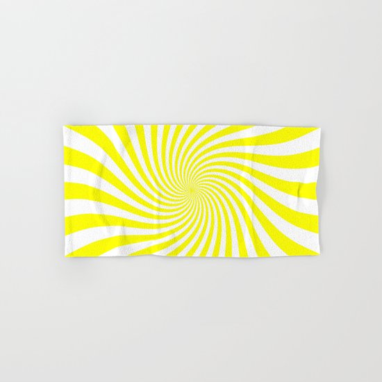 Swirl (Yellow/White) Hand & Bath Towel