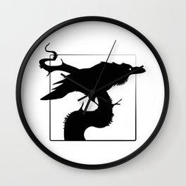 Raven Silhouette III Wall Clock