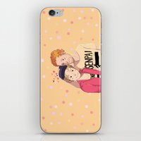 enjolras iPhone & iPod Skins featuring Enjolras et Feuilly by Sarlyne