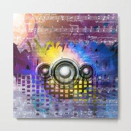 Music DJ Trance Metal Print