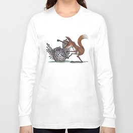 Owl & Fox dancing Long Sleeve T-shirt