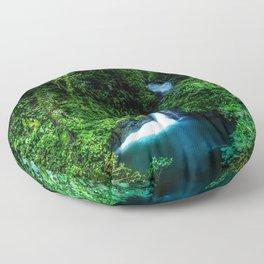 Jungle Waterfall Floor Pillow