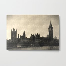 Westminster Bridge Vintage Art Metal Print