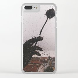 PHOTOGRAPHY- rose and rain Clear iPhone Case