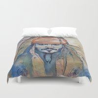 jack sparrow Duvet Covers featuring Jack Sparrow by Nicola Girello