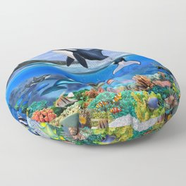 THE ORCA FAMILY Floor Pillow
