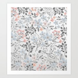 floral background Art Print