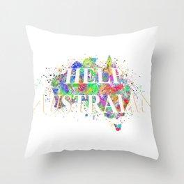Help Australia Throw Pillow