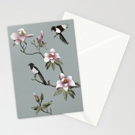 Magpies and Magnolia Stationery Cards