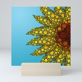 Sunflower in Abstract Form - Flower field - Autumn and summer collide - 57 Montgomery Ave Mini Art Print