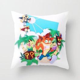 Crash Bandicoot! Throw Pillow