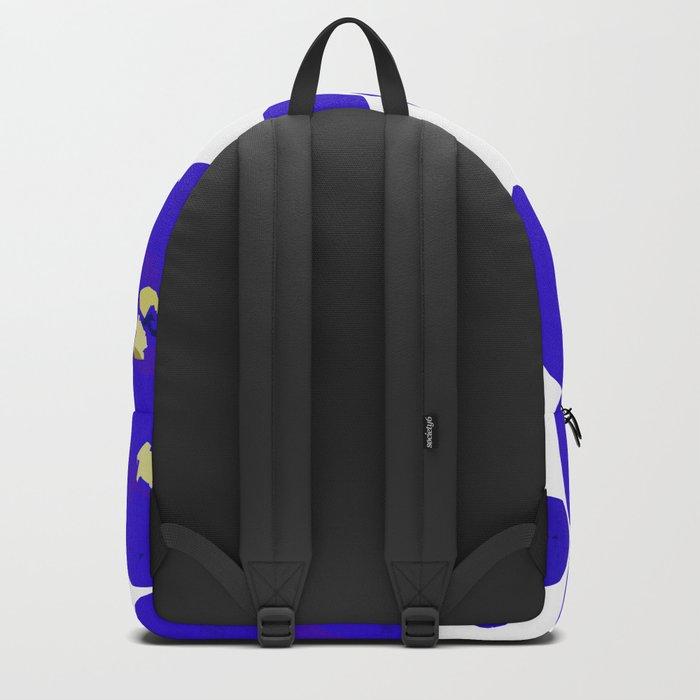 Blue Retro Flowers Backpack