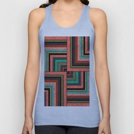 Combination marble patchwork Unisex Tank Top