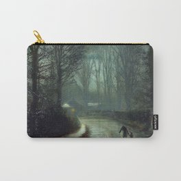 John Atkinson Grimshaw - Nearing Home - Victorian Retro Vintage Painting Carry-All Pouch